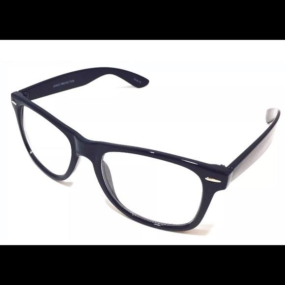 b75201726e Unisex Nerd Geek Hipster Fake Clear Glasses S-M-L. NWT